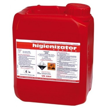 Detergent acid lichid 6 Kg pentru aparate de muls
