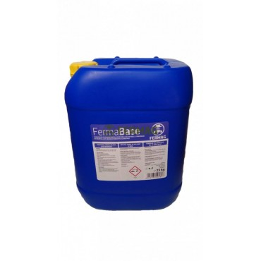 Detergent alcalin lichid 25 Kg pentru aparate de muls FermaBase
