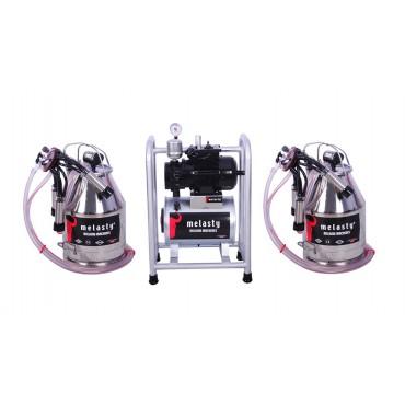 Pompa de vacuum pentru sistem fix cu doua bidoane de muls 30L