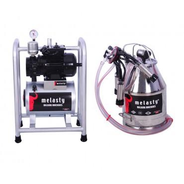 Pompa de vacuum pentru sistem fix cu un bidon de muls 30L