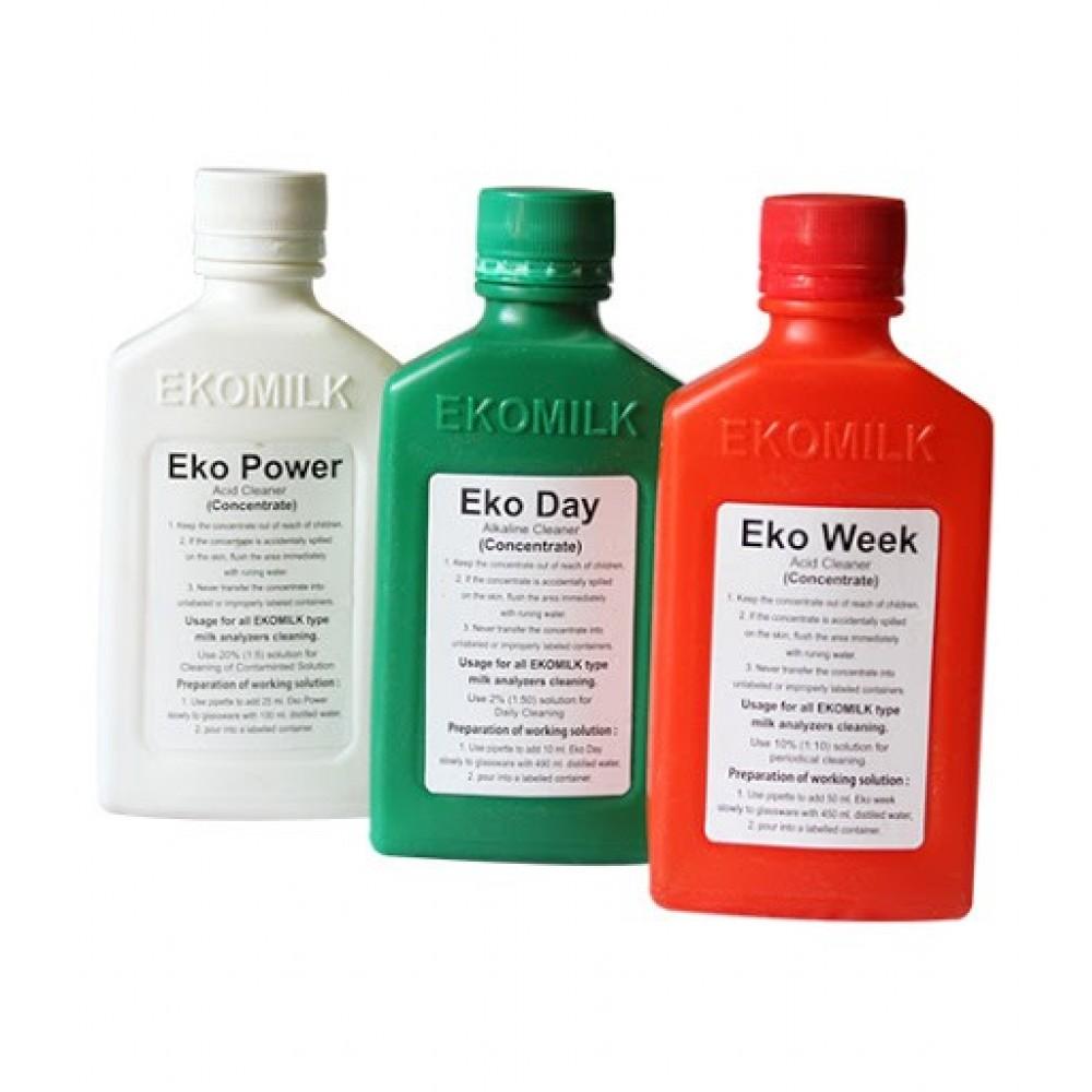 Set Solutii de curatat analizatoare de lapte Ekomilk